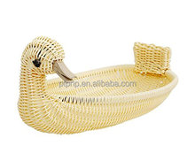 Plastic rattan storage basket animal shape basket popular design