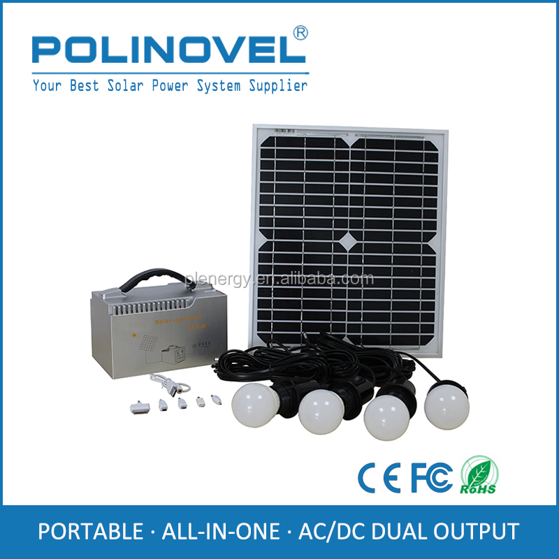 Wholesale mini portable solar system with mobile charger