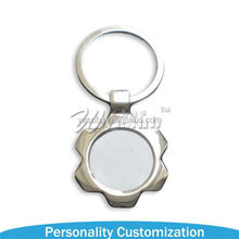 2017 best sale Sublimation heart shape key chain