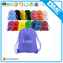 Promotional Custom Large Waterproof Draw Polyester String Bag