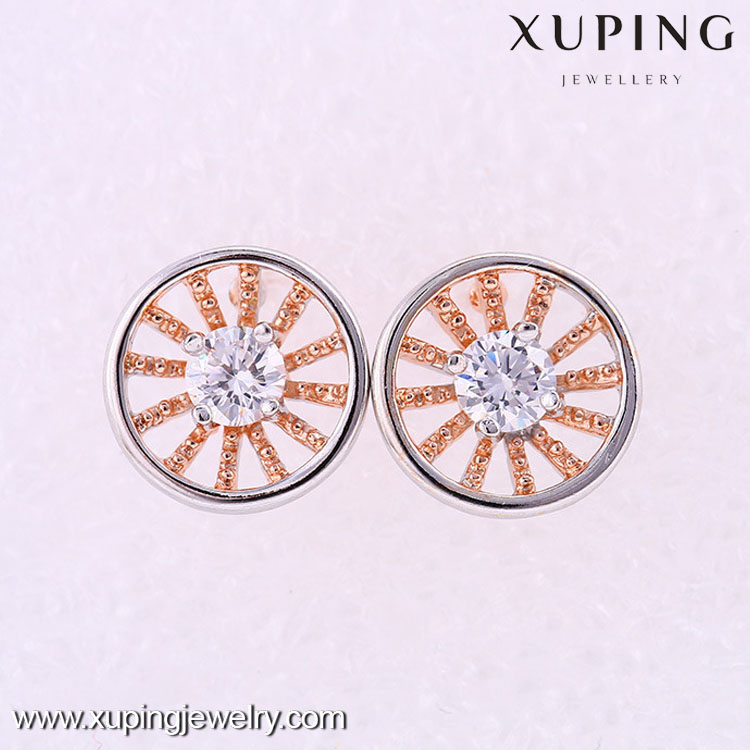 25659 Fashion high quality multicolor light weight gold earring