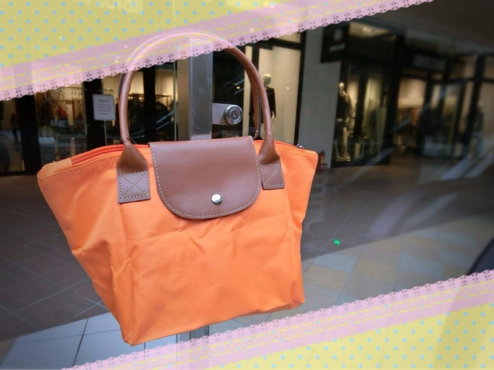 New trendy Lady's folding synthetic leather tote bag