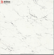 double loading polished porcelain tile, vitrified floor tiles ceramic ,white surface black line