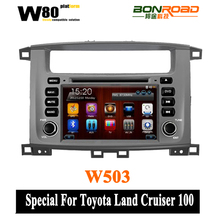 "7"" Car DVD Player for Toyota Land Cruiser/ Landcruiser 100 with GPS Navigation,Bluetooth,TV,V-CDC,RDS,3G USB Host"