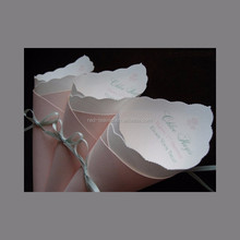 Personalized paper cones vintage cones confetti paper cones with butterfly ribbons