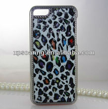 Bling bling leopard case cover for iphone 5C