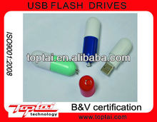 Originality Gadget Individualized Two Parts Cylinder Plastic Medical Tablet USB Flash Drive