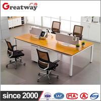 Excusive newest design office furniture/ counter/ workstation4 people office desk(KB-F-04A)
