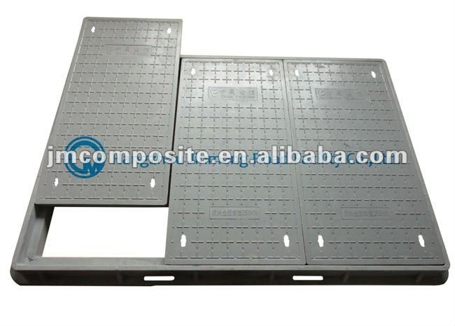 Anti theft square SMC Composite telecom manhole cover