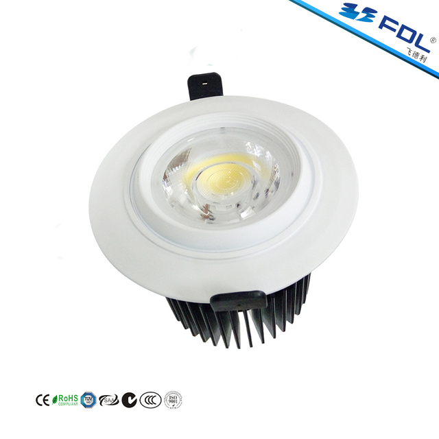 High Luminance 10W 15W 30W COB LED Embedded Downlight Spot Light with Aluminum Lamp Body and Acrylic Lens