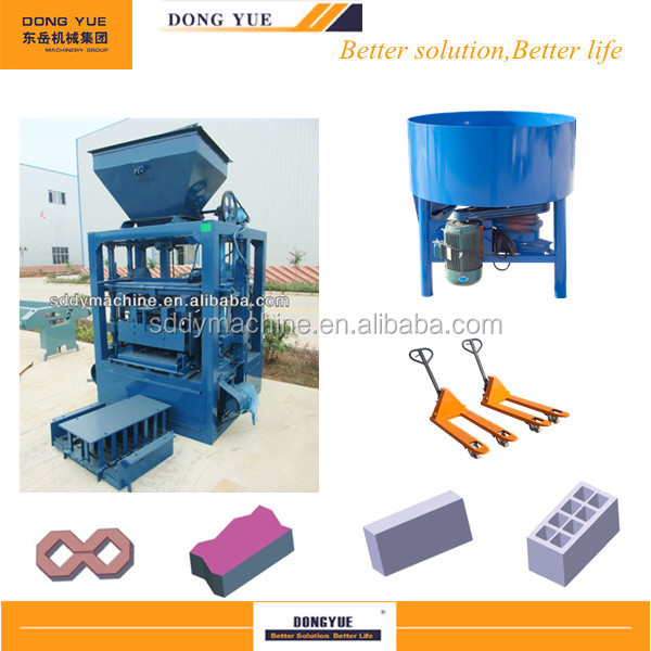 Hot selling dongyue QT4-26 small scale block production plant
