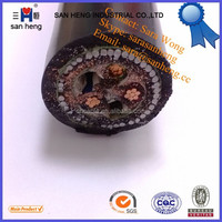 YJV32, YJLV32 0.6/1KV XLPE Insulated Thin Steel Wire Armored PVC Sheathed 3 Core Power Cable