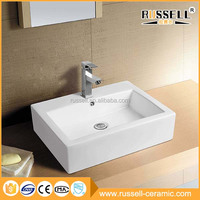 Modern popular low price solid surface countertop bathroom wash basin
