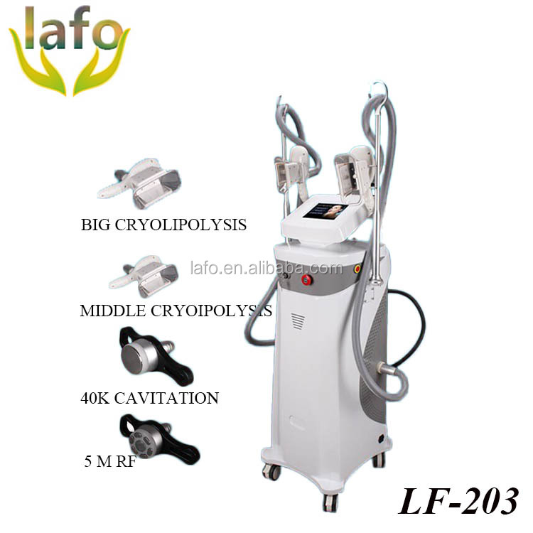 LF-203 New Product 2 Cryo Handles Fat Freeze Cellulite Reduce Cryolipolysis Machine with RF 40K Cavitation