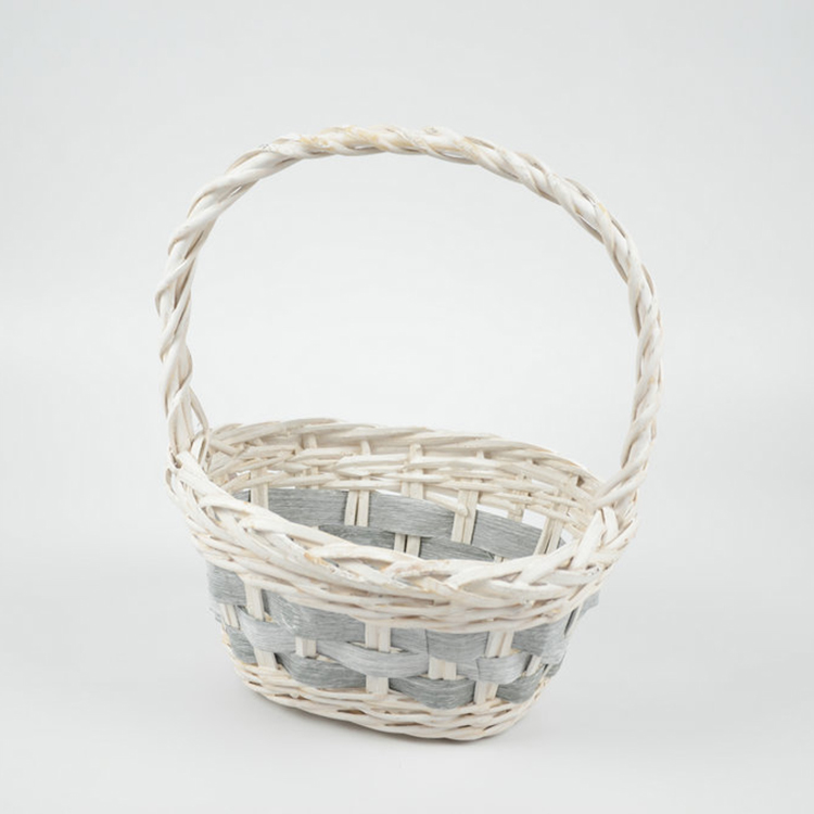 Handmade Wicker Hanging Flower Plant Pot Garden Basket for Flower