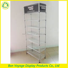 Manufacturing customized floor standing metal wire wine rack