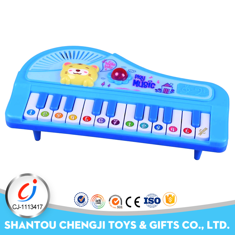 Cute animal piano toy 22 keys electric import musical instruments with light