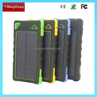 Portable Solar Power Bank charger 8000mAh For Cell Phone waterproof