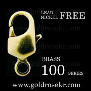 Brass Lobster clasp 100 series