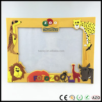 Custom made personalized children 3D cartoon animal soft pvc picture photo frame