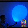Extra large round balloon with LED element