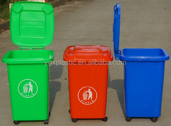YGX-50L convient plastic garbage can for vehicle/bus using