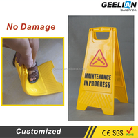 Road Sign,Yellow foldable caution wet floor sign, Plastic safety A shape traffic warning sign traffic sign Quality Choice