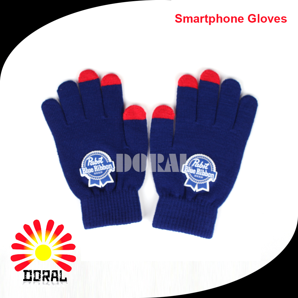 2017 Fashion Smart Texting Knitted Custom Acrylic Touch Screen Gloves