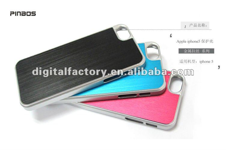SGP Ultra-Thin Aluminum Alloy Metal Wire Drawing Case For iPhone 5