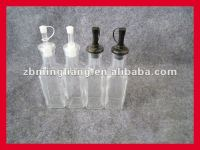 high clear glass bottles for oil/vinegar