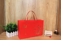 Strong plastic handle heavy duty paper bags