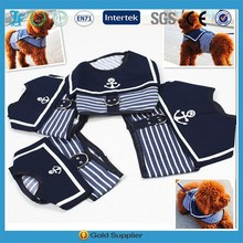 Pet Harness Dog Clothes Pet Dog Cat Anchor Navy Vests Harness Leash Chest Straps