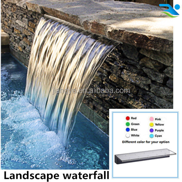 spillway floor standing swimming pool LED waterfall fountain wall