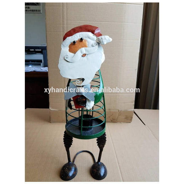 2017 New Fashion Festival Home Decoration Santa Christmas Lantern Candle Stand