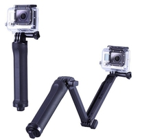 3 Way Adjustment Handheld Monopod Pole Tripod Action Camera Adjustable Mount For Go Pro 4 3+ 3