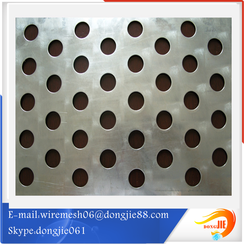 diamond pattern nickel perforated wire mesh