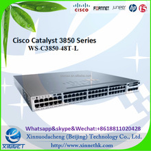 Newest high quality Cisco 3850 Switch 48 Ethernet ports stackable switch with LAN base IOS image