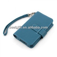 mobile phone leather case e71 wallet leather mobile case with strap