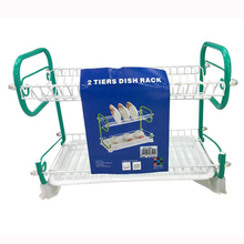 Kitchen dried unique durable sink double dish rack