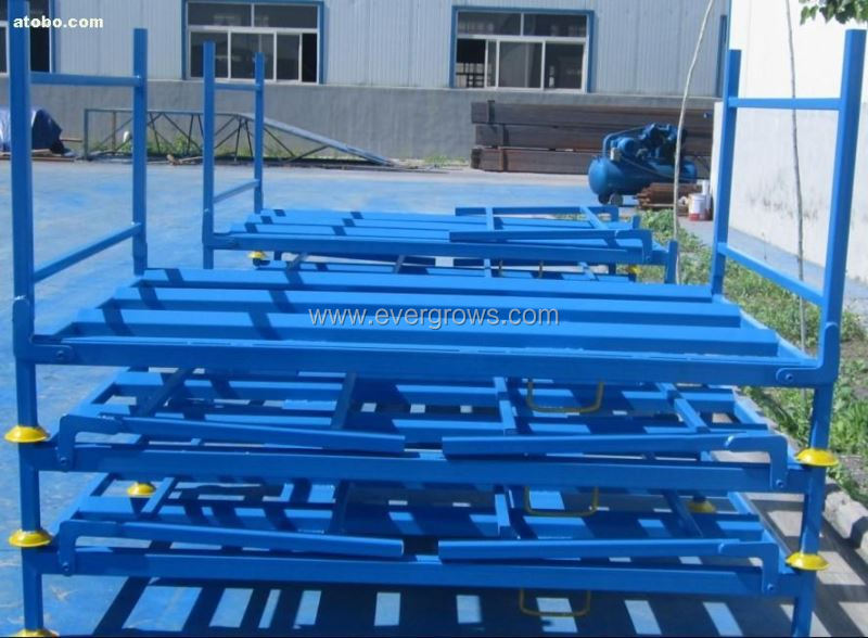 Foldable Steel Heavy Loading Plate Used Stacking Tire Racks