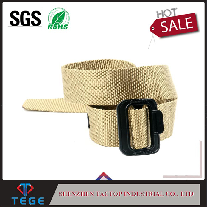 "Functional desert color 1.5""width single layer nylon military tactical belts"