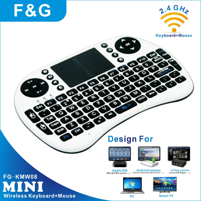 white wireless keyboard with touchpad