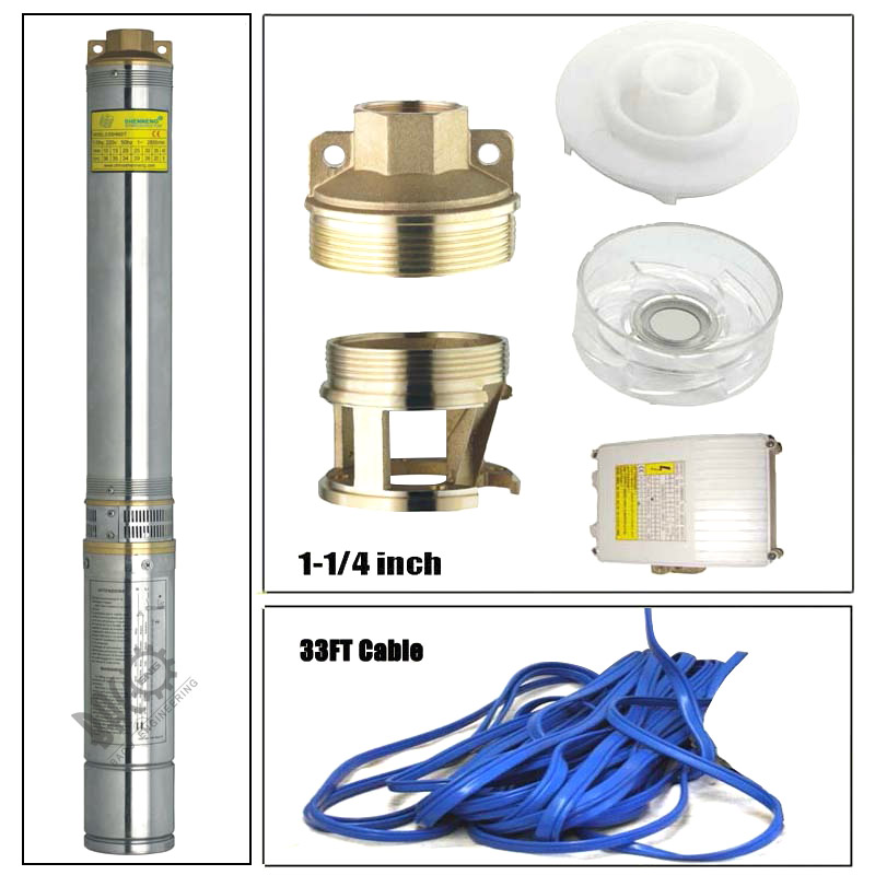 "4"" 1HP Water Pumping Machine Deep Well Pump Submersible Centrifugal Pump"
