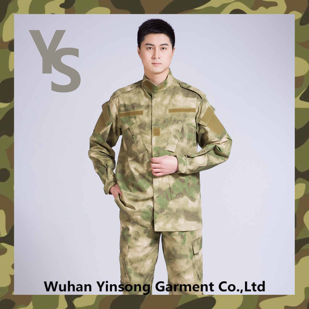 [Wuhan YinSong] hotsale camouflage military track and field uniform