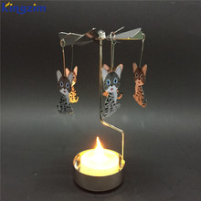 2018 Rotating angle kitchen cabinet carousel metal candle holder