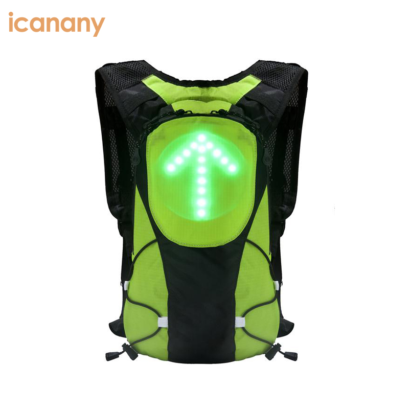 Green Orange high visibility cheap canvas safety running cycling reflective led vests with Turn signal
