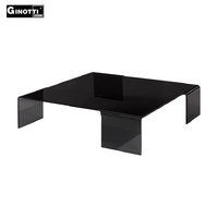 Bending glass living room center coffee table