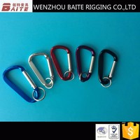Color ALUMINUM CARBINER AND D TYPE SNAP HOOK WITH PIN 6MM ,8MM
