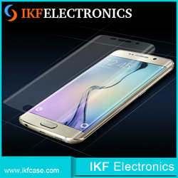 Ultra thin 3D curved crystal clear soft film front screen protector for Samsung Galaxy S6 Edge Plus