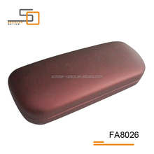 Iron with PVC leather eyewear cases,China eyeglass case,optical glasses case